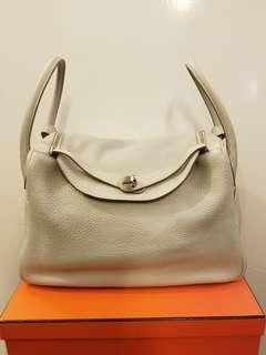 Hermes lindy 34 pearl grey