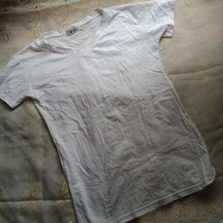 Vneck White Tshirt