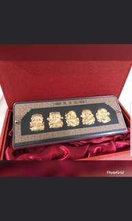 24KT Gold Foil Fu Lu Shou Xi Cai