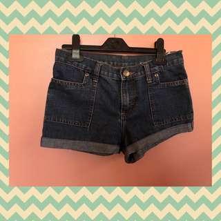 Denim Midwaist Shorts