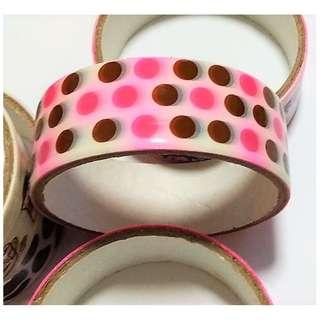Decorative Tape Roll - Pink Polka Dots