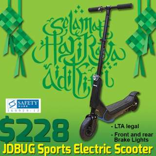 LTA legal Jdbug Sports 300W electric Scooter