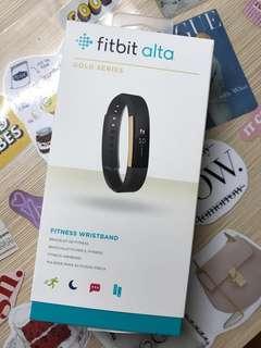 Fitbit Alta 黑金色 M/L size手帶