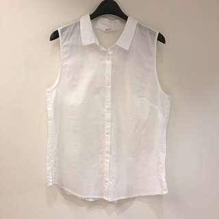 🚚 NET 全新未穿過 無袖白襯衫