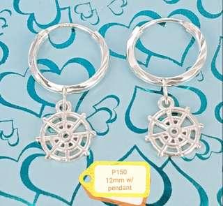 Italy silver 925 earings w/ pendant