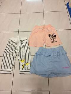 Pants ,skirt ,long pants 3-4years