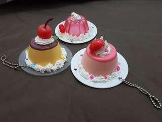 Pudding keychain whipple 3 pcs (satuan)
