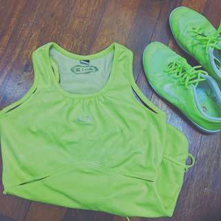 Neon Yellow Sports Top/Dress
