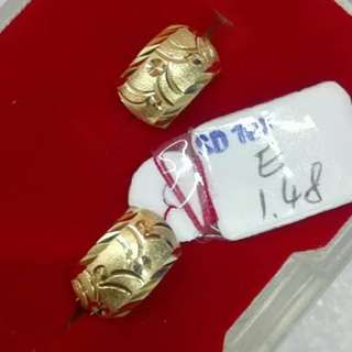 18K SAUDI GOLD CLIP EARRING '....