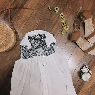 Lace Polo Top