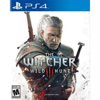 [NEW NOT USED] PS4 The Witcher 3: Wild Hunt Sony Warner Home Video Action RPG Games