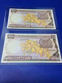 $25-orchid x2pcs running original UNC.