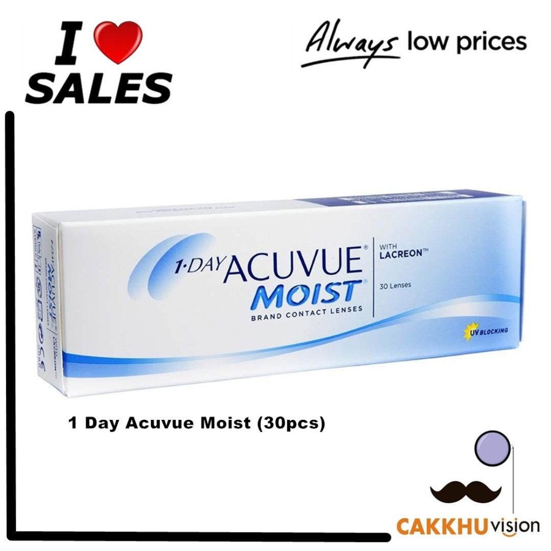 1 Day Acuvue Moist 30pcs Health Beauty Perfumes Nail Care Softlens 2 Photo