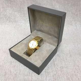 Christian Dior 白面盤石英錶