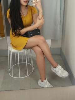 Dress H&M mustard
