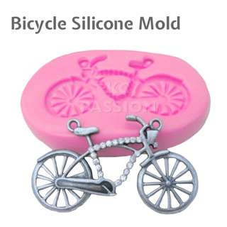 🚲 BICYCLE SILICONE MOLD TOOL for Pastry • Chocolate • Fondant • Gum Paste • Candy Melts • Jelly • Gummies • Agar Agar • Ice • Resin • Polymer Clay Craft Art • Candle Wax • Soap Mold • Chalk • Crayon Mould •