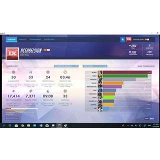 2 Overwatch Accounts Diamond Peak [ Cheapest price for 2 Accounts ] Negotiable