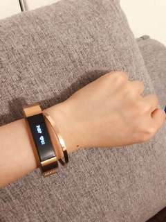 Fitbit alter / alter hr smart watch accessories metal band only 替換不銬鋼錶帶 玫瑰金 多色「不含錶」
