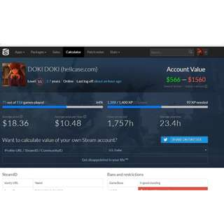 Steam Account Over 100 Games