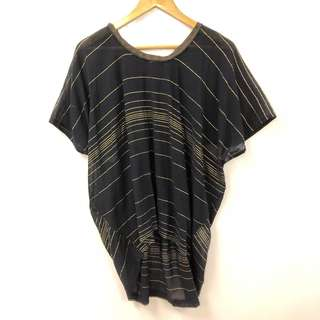 Kolor black and gold tee top size 1