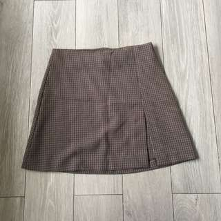 Retro Retazzo Plaid Mini Skirt