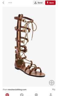 Cynthia Vincent gladiator sandals