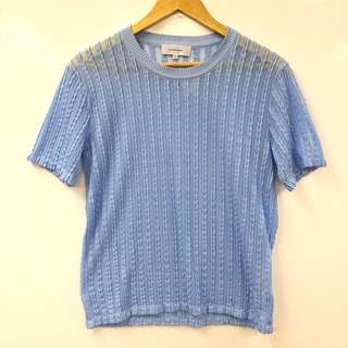 Carven blue tee top size M