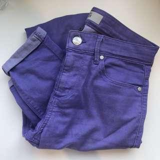 Topshop Jamie Purple Skinny Leg Jeans