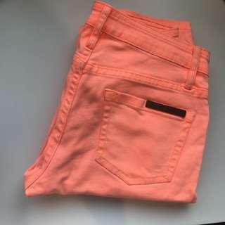 Sass & Bide Orange Skinny Leg Jeans