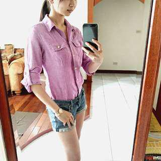 Banana Republic 淺紫色襯衫 #女裝88