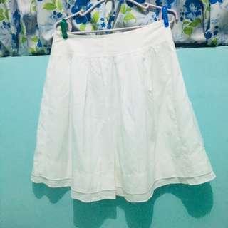 White A-line Skirt (Prelove)