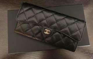 全新Chanel長銀包