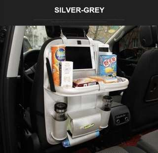 Leather Car Seat Back Bag Organizer And Tablet/Phone Holder
