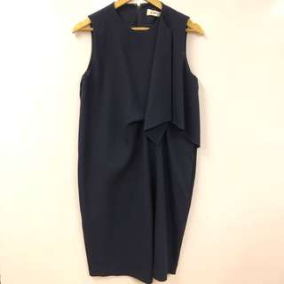 長身裙 Enfold navy vest dress size 40