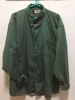 🚚 古著綠色襯衫(可當oversize)