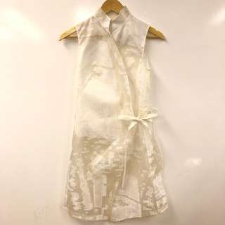 Shiatzy Chen white dress or long cardigan size F 36s