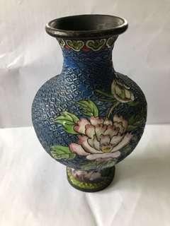 清代銅胎景泰藍花瓶