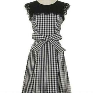🈹全新日系蕾絲格子連身裙