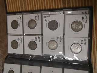Silver world coins