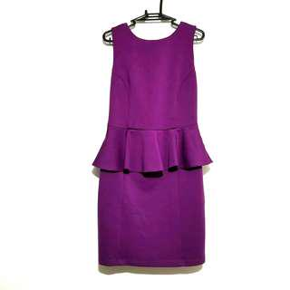 Topshop Purple Peplum Dress
