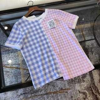 Loewe 18ss 拼接款女士短袖T恤,SML 餘貨幾件,好價$999 保證100%Real