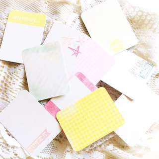 [Set of 10] Project Life (#4) - Set of 10 Double-Sided Journal Cards.