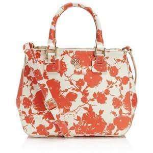 Tory burch small double zip floral authentic