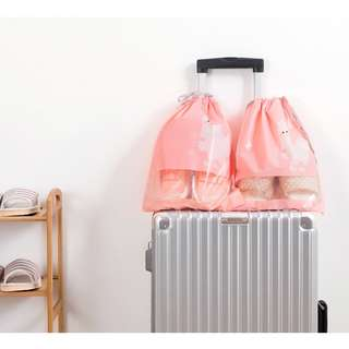 Portable Dustproof Shoes Pouch (Pink) - small