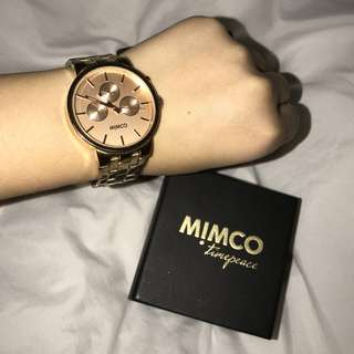 Mimco Rose Gold Watch