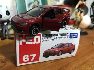 Tomy Mitsubishi Lancer Evo X
