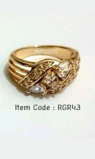 RGR43 Rose Gold Plated Ring size 7