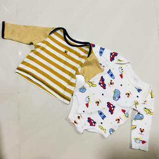 CLEARANCE - BOTH $2 baby top and romper