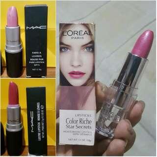 Buy 1 Item Get 1 Item Free Loreal & MAC Lipstick