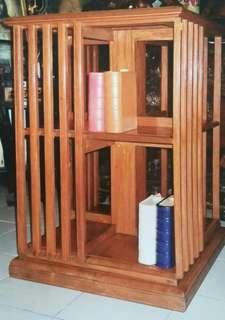 Rotating bookshelves